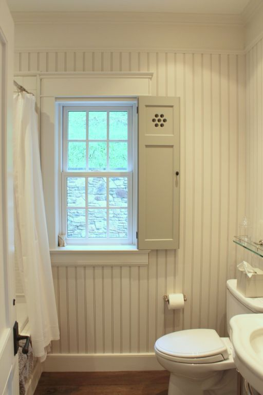 Love the wainscoting and shutter!  The Inn at Little Pond Farm – part two » Talk of the House