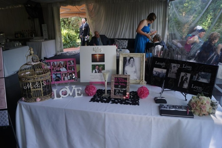 Our entrance table, remembering all those that would have been there if they could. We know they were there in spirit xx