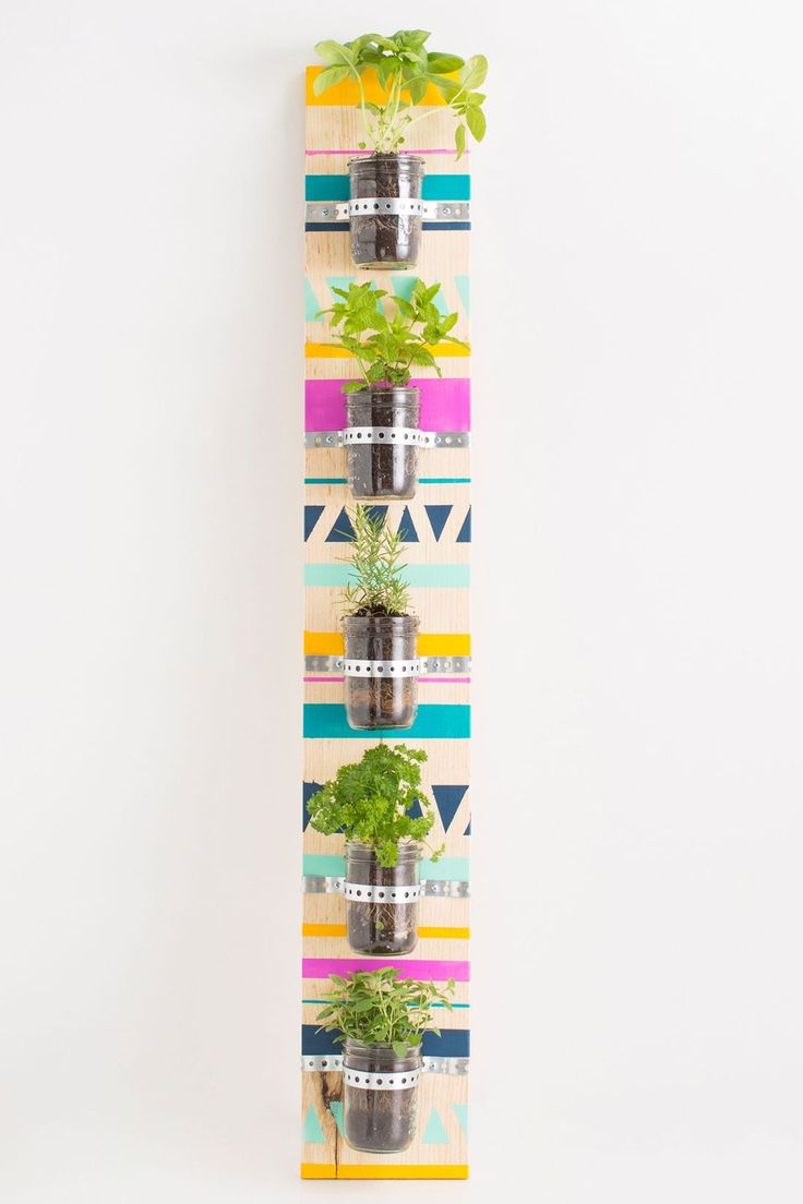 Make a cool vertical herb garden with this tutorial.