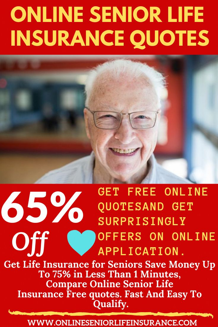 ONLINE SENIOR LIFE INSURANCE QUOTES You can save money up