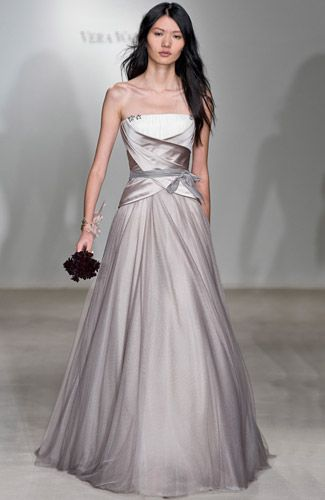 Fabulous Vera Wang Tatiana dress color dove or purple