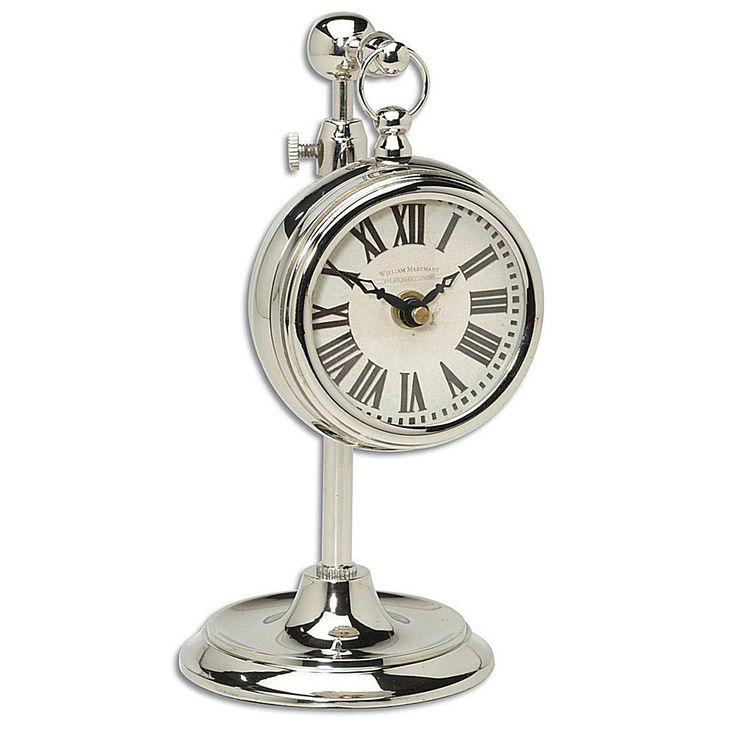 Home Marketplace Pocket Watch Nickel Marchant Cream Clock