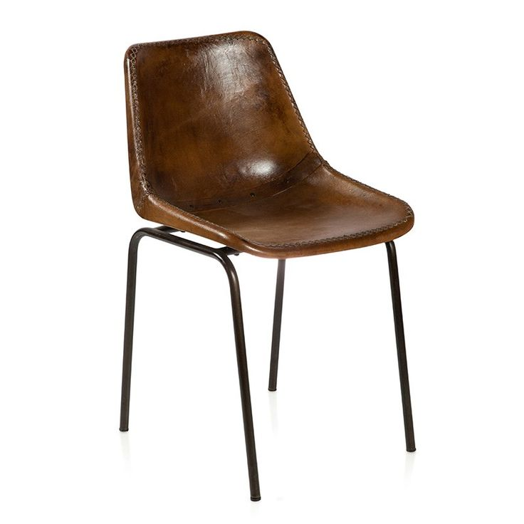 (Marcona) Leather Dining Chair - Dining Chairs Online Australia  The Marcona is a twist on an old favorite. Now upholstered in leather, it makes a very comfortable dining chair for that recycled table or rustic French Provincial table. Could also be used as visitors chairs in your home office.