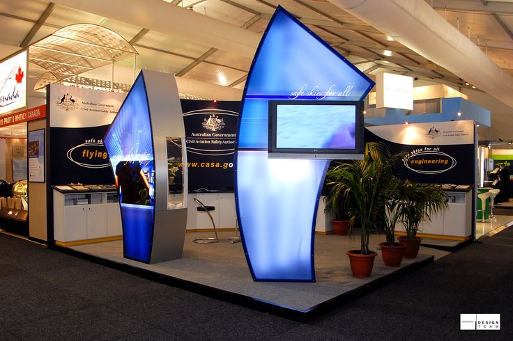 CASA @ AIRSHOW Inspired by the CASA logo and with the use of large light boxes, this vibrant stand acts as a useful information point. The modular design enables us to re-install this stand into a smaller space, updating the graphics to maintain a contemporary demeanor