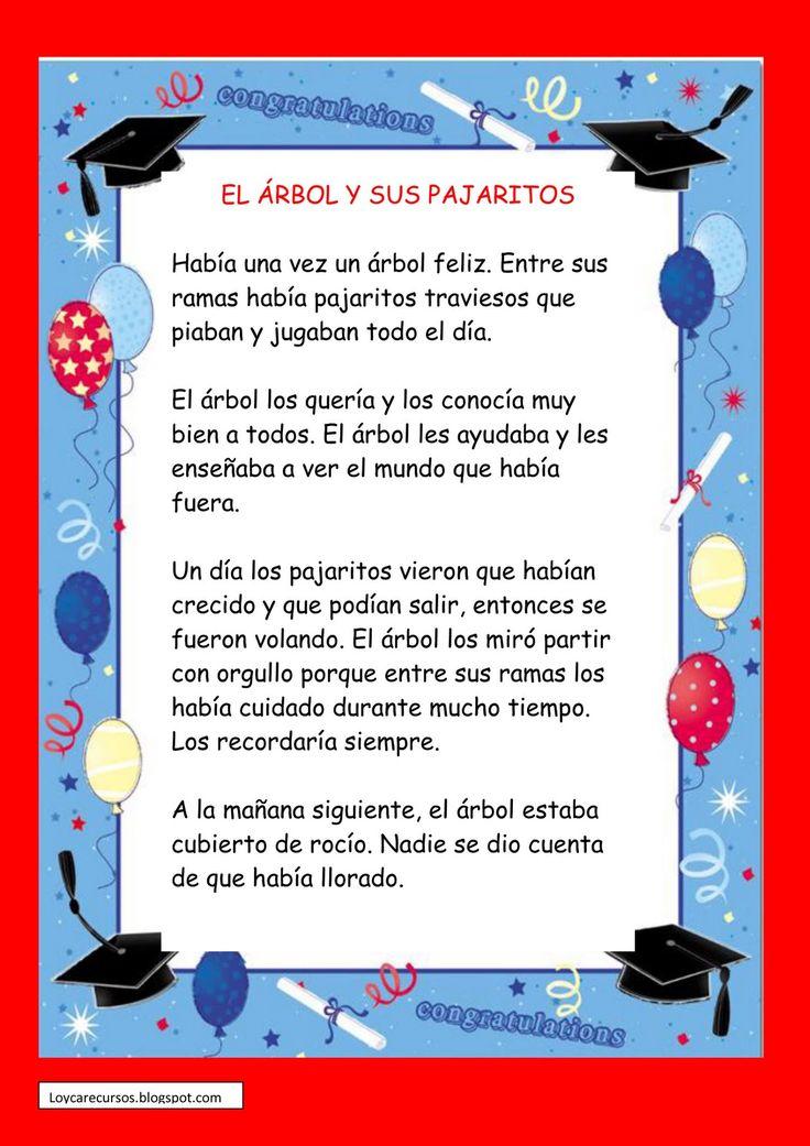RECURSOS DE EDUCACION INFANTIL: CUENTO DE GRADUACIÓN