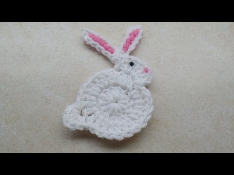 #Crochet Easy Bunny Rabbit Applique Easter #TUTORIAL - YouTube
