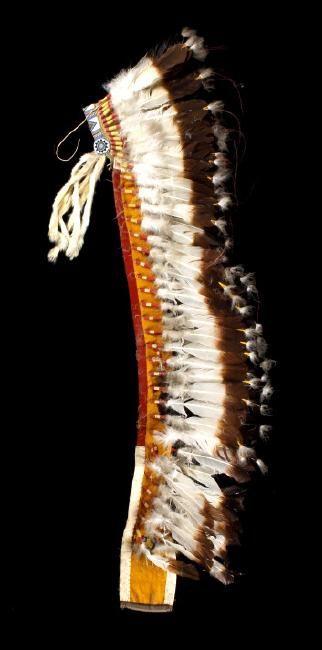 Plains Indian mid-century head dress