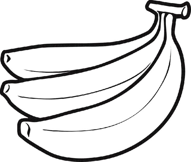 Banana clipart black and white free clipart images Free