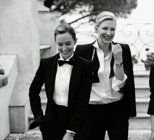Cate Blanchett And Emily Blunt Dressed To The Nines In An Iwc