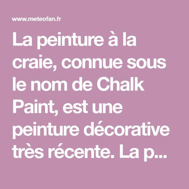La peinture à la craie, connue sous le nom de Chalk Paint, est une - Comment Peindre Un Meuble Vernis