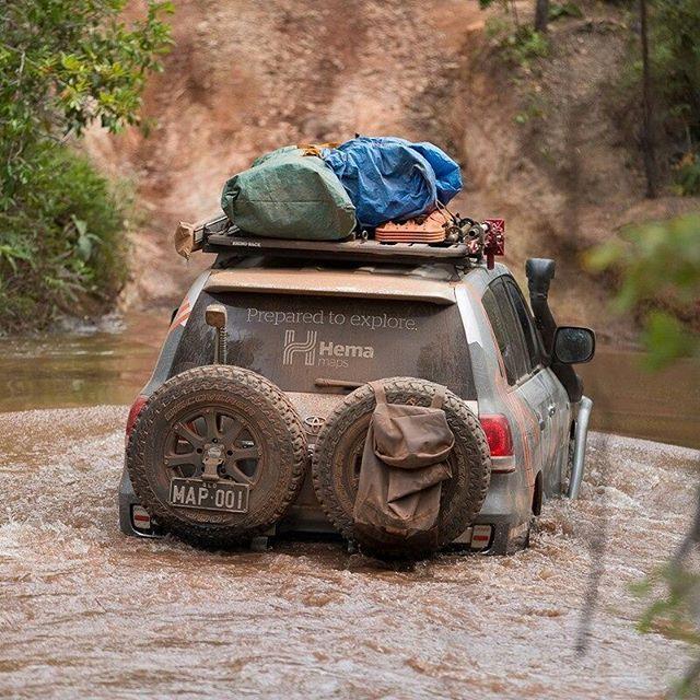 """""""Adventure is worthwhile."""" – Aesop #hemamaps #capeyork #watercrossing #creekcrossing #australia #seeaustralia #outback #outbackaustralia #offroad #offroading #overland #overlanding #4wd #4x4 #4x4life #4wheeling #landcruiser #lc200 #landcruiser200 #toyota4x4"""