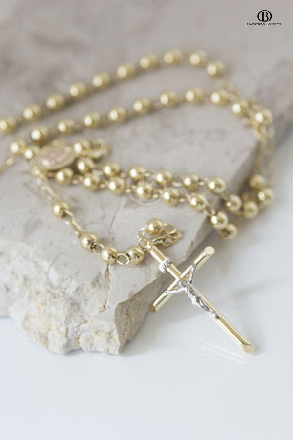 Rosario de  Oro de 10k, 14k y 18k. ------------------------ 10k, 14k and 18k Gold Rosary.
