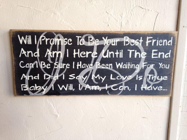 Handmade Sign Paul Brandt I Do Lyrics Canadian Made Prim Pickins