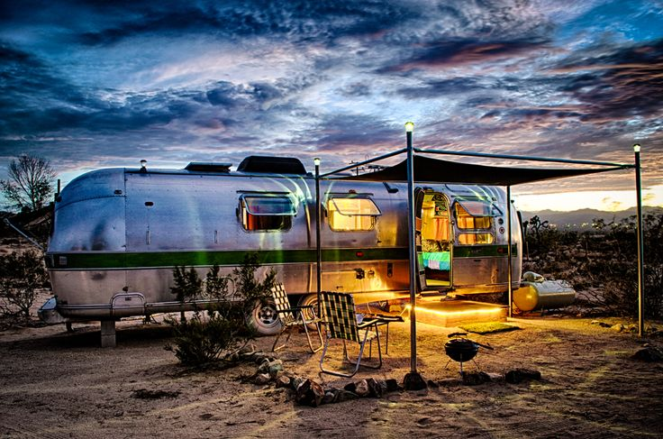 Kate's Lazy Meadow - Airstream Trailers. I like the awning idea !