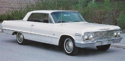 1963 Chevrolet Impala Super Sport  White with red bucket seats...my first car!
