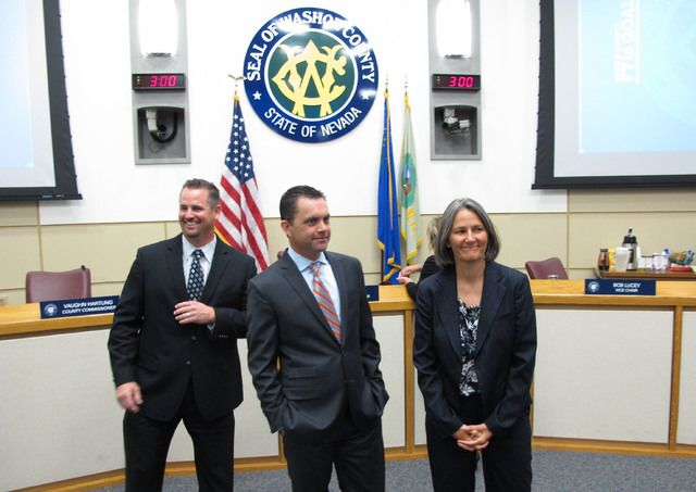 Washoe County commissioners Tuesday appointed three people to temporarily fill vacancies in the Nevada Legislature in anticipation of a special session to consider financing for a $1.9 billion football stadium and $1.4 billion convention center expansion in Las Vegas.