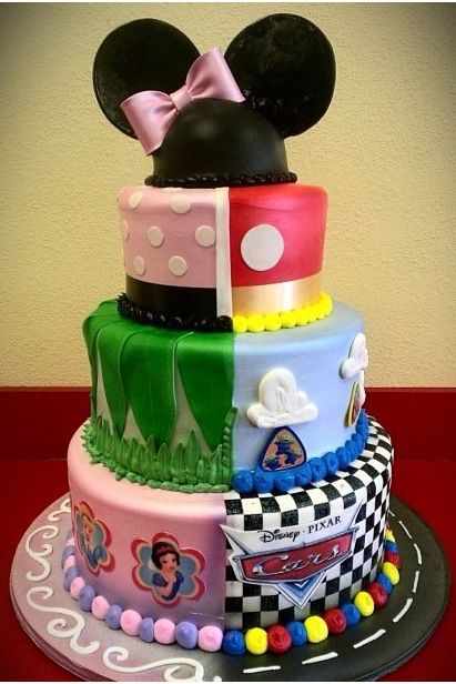 Cake Ideas For Boy And Girl : Half boy/ half girl Disney Cake. Birthday cakes ...