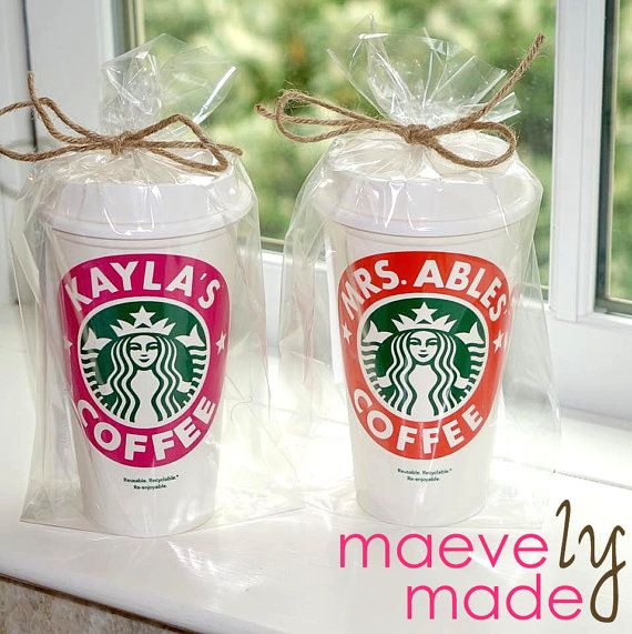 Personalized Reusable Starbucks Cup Holiday Gift by maevelymade