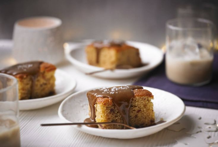 Sticky toffee pudding with Baileys salted caramel sauce