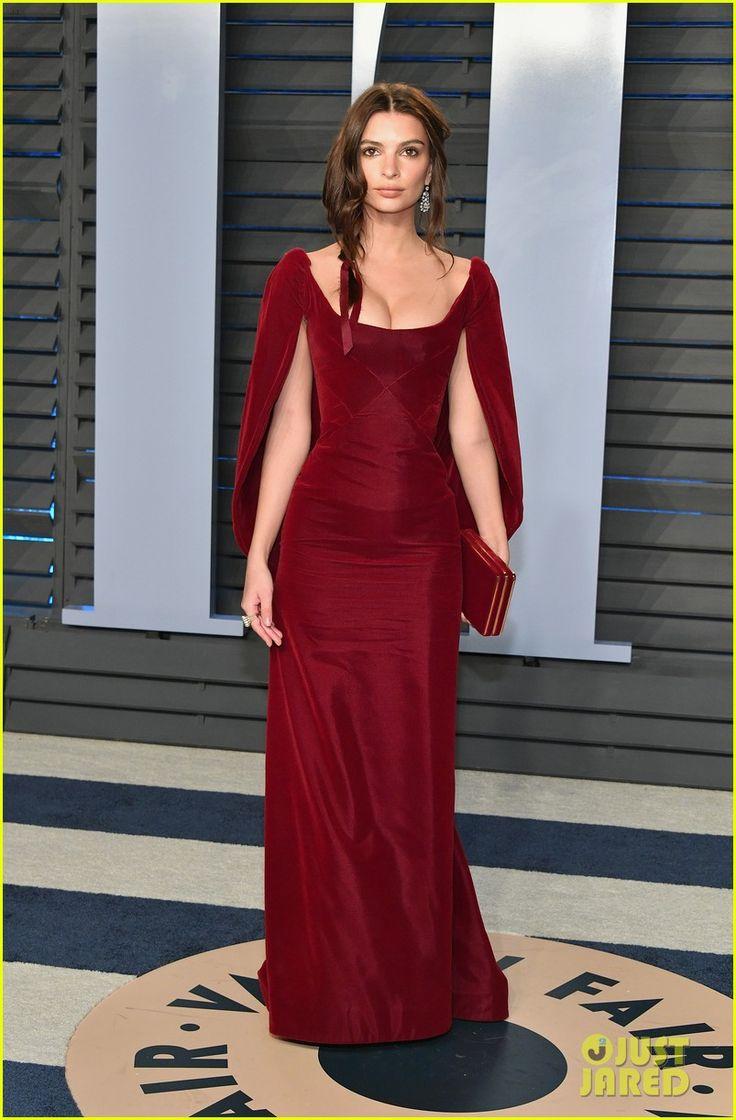 Emily Ratajkowski & New Husband Sebastian Bear-McClard Attend Vanity Fair's Oscars Party