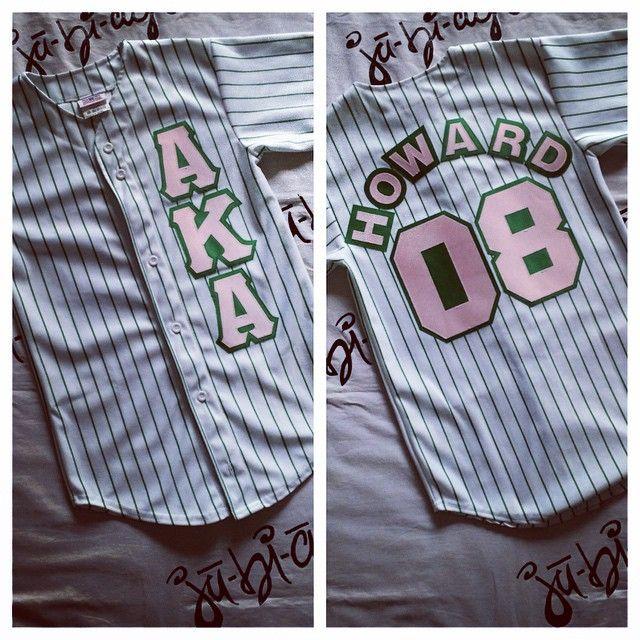 AKA striped baseball jersey #followprettypearlsinc AKA 1908