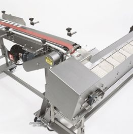 With Multi-Conveyor indexers, product flow is controlled as product orientation and spacing are set to requirements. For example, a product needs time to cool in one stage; auto-indexing provides the precise number of seconds of wait time.