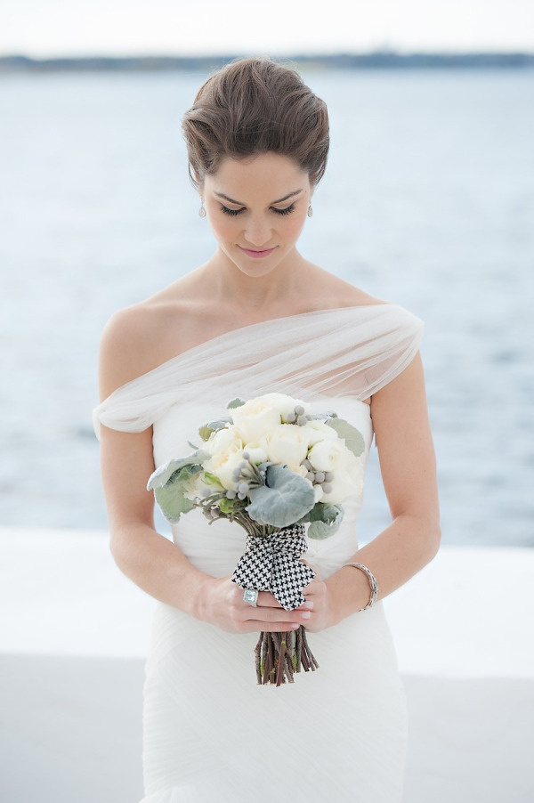 great dress and bouquet