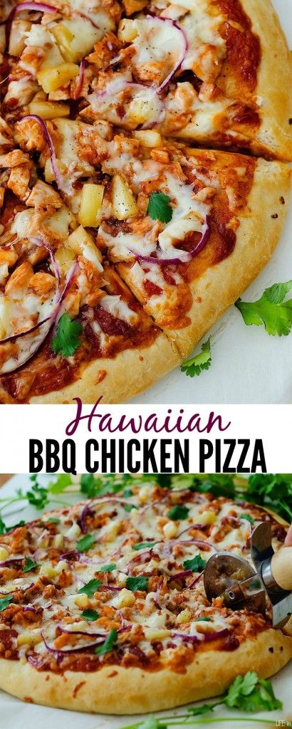 Loaded with chicken, bacon and pineapple!