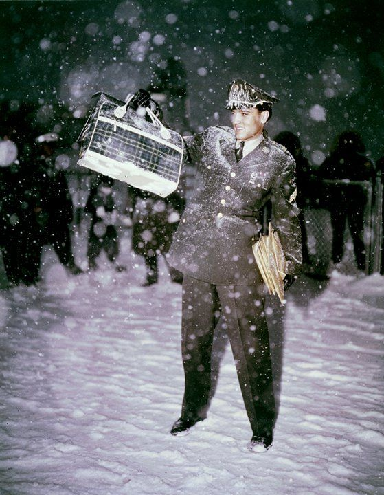 March 3, 1960: Elvis arrives at McGuire Air Force Base near Fort Dix, New Jersey in the middle of a snowstorm after spending two years in the army in Germany.