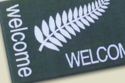 MessageMats – 'Welcome' designs manufactured ex stock