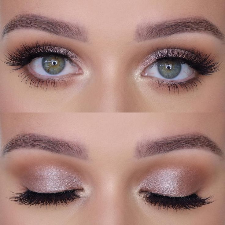 Light Pink Shadow For The Green Eye Amazing Wedding Makeup