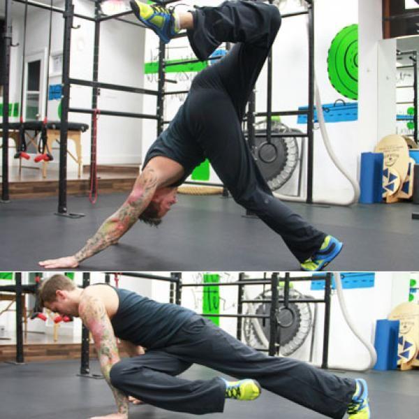 Body Weight Training: Warm Up with Scorpion Reach - The Total-Body, Body Weight Training Workout - Shape Magazine