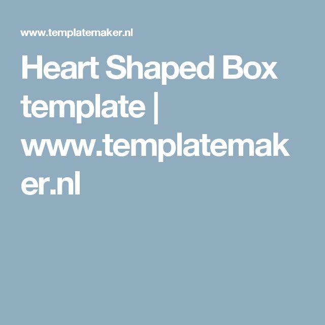 Heart Shaped Box template | www.templatemaker.nl