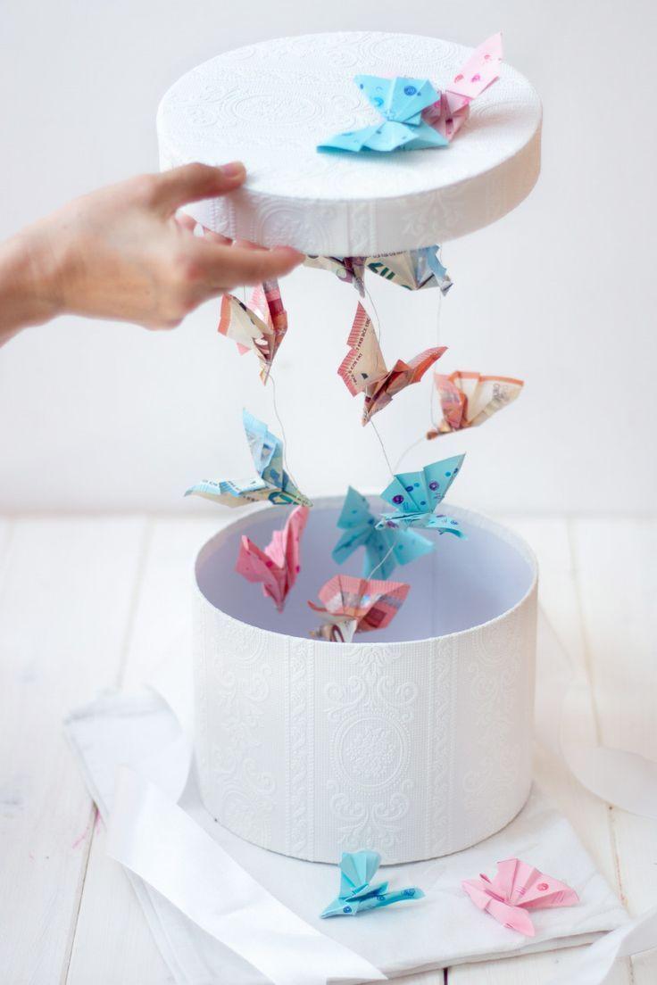 DIY Geldgeschenk für Hochzeiten und anderen Feiern: Fliegende Schmetterlinge in der Box – lovely diys | DIY Blog über Deko, Geschenke & Wohnen