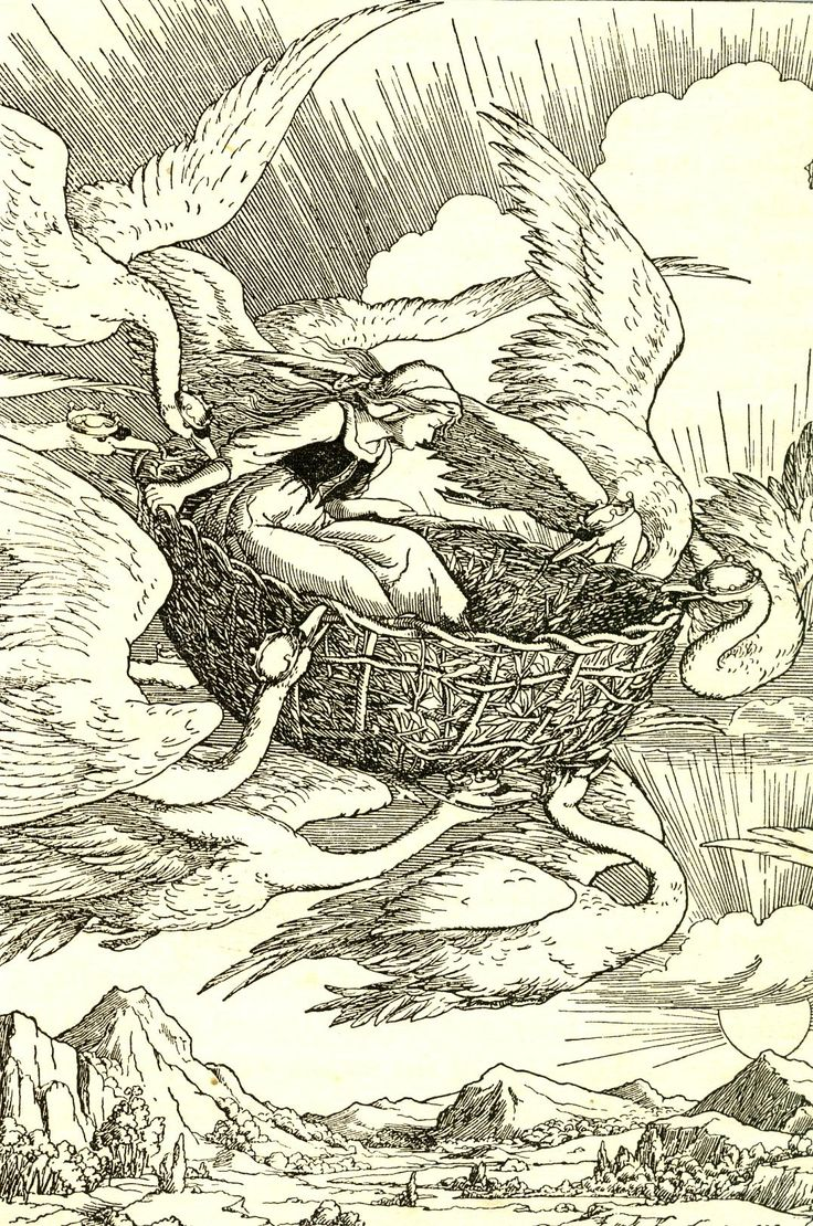 The Wild Swans -- F. D. Bedford --
