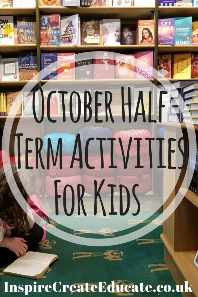 Stuck on what to do this half term? Get unstuck with this list of October half term activities.   With lists for outdoor activities, indoor activities and even a reading list; your little ones will never be bored.