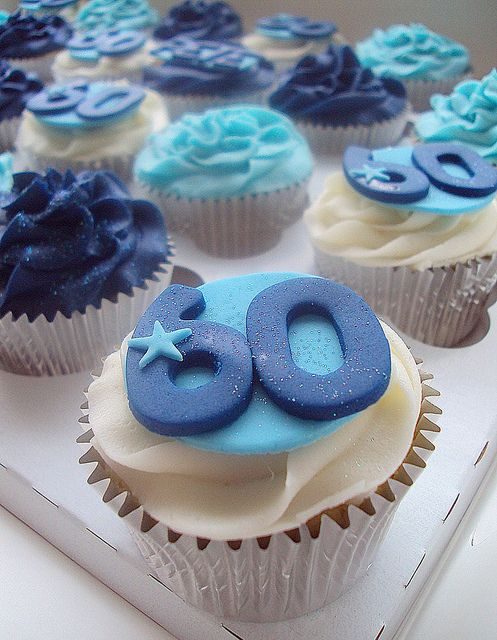 60th Birthday Cake Ideas : 6 60th Birthday Cupcakes | Cake Decoration Idea | Hanbly.com