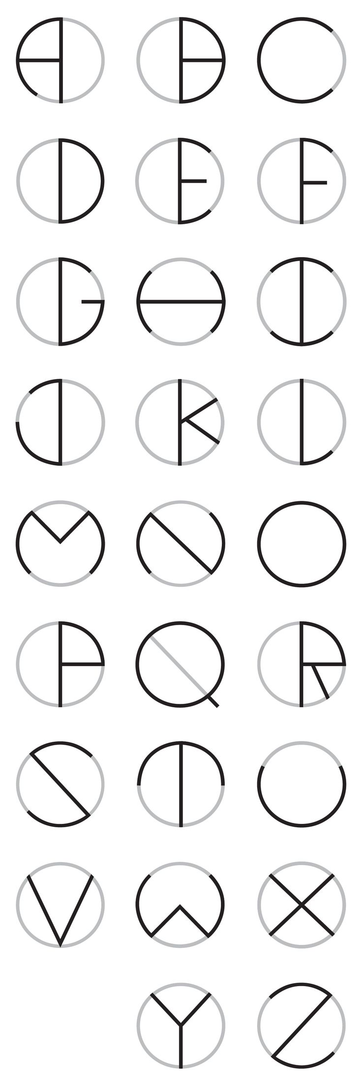 a typeface inspired and made from circles.