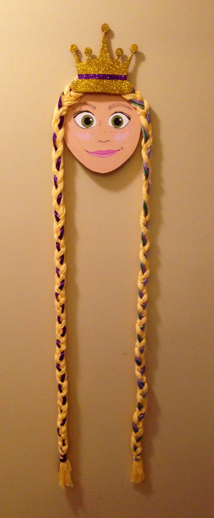 Rapunzel, tangled, hair bow holder, hanger, DIY.