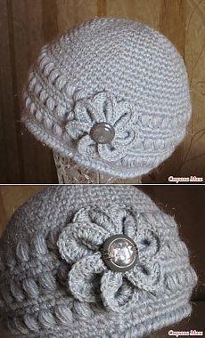 Серая шапочка крючком - Вязание - Страна Мам