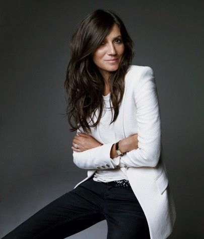 white blazer: Fashion, Emmanuellealt, Inspiration, White Blazers, Hair Color, Emmanuelle Alt