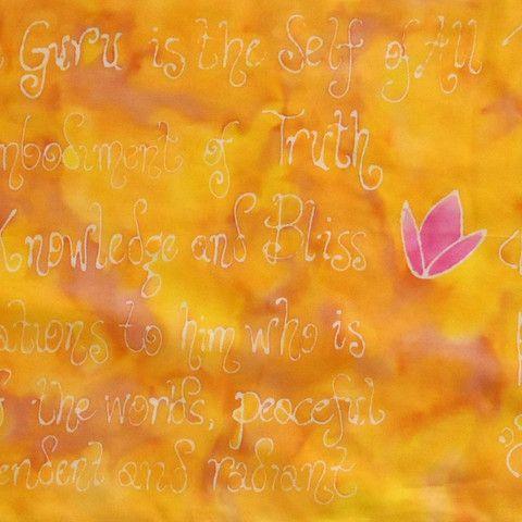 Om Namah Shivaya Silk Scarf Om Namah Shivaya is known as the great redeeming mantra.  $85.00