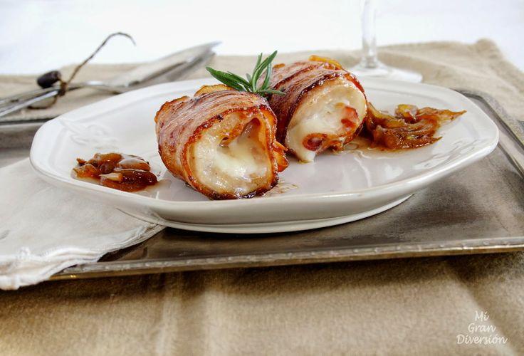 Mi Gran Diversión: Rollitos crujientes de bacon con lomo y mozzarela