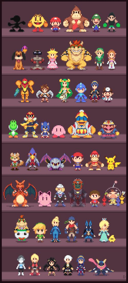 Super Low-res Brothers by Davitsu.deviantart.com on @DeviantArt