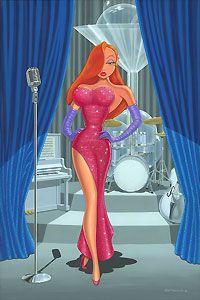 Who Framed Roger Rabbit - Diva In a Red Dress - Jessica Rabbit - Manny Hernandez - World-Wide-Art.com - $450.00
