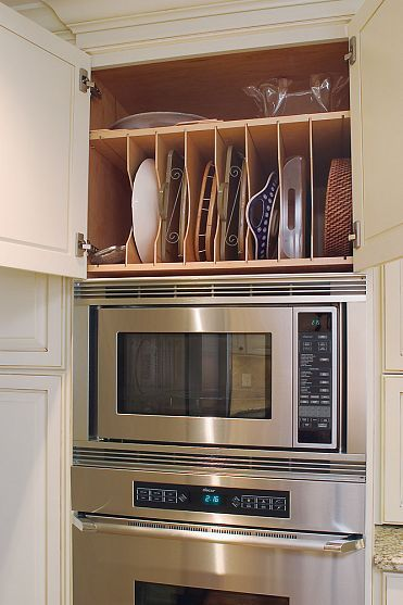 Kitchens, a must for trays, cutting boards and cookies sheets.  Possibly in the pantry.  Possibly over the oven.