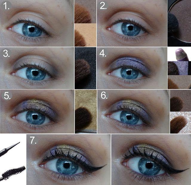 Beauty blog: Fotonávod: Fialovozlaté líčení