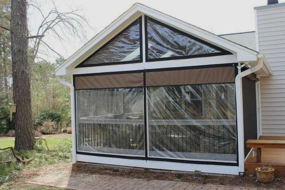 Clear Vinyl Plastic Enclosures Porch Enclosures Patio