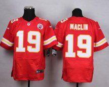Kansas City Chiefs #19 Jeremy Maclin Elite Red Jersey