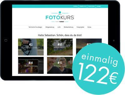 Online-Fotokurs Preis 122 Euro